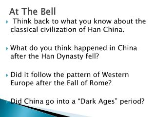 At The Bell