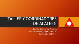 TALLER COORDINADORES  DE ALATEEN