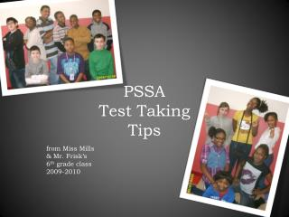 PSSA  Test Taking  Tips