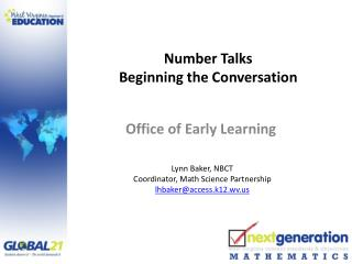 Number Talks Beginning the Conversation