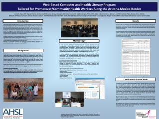 Web-Based Computer and Health Literacy Program