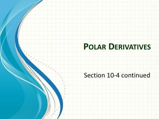 Polar  Derivatives