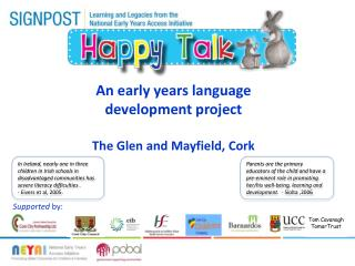 An early  years language development project The Glen and  Mayfield, Cork