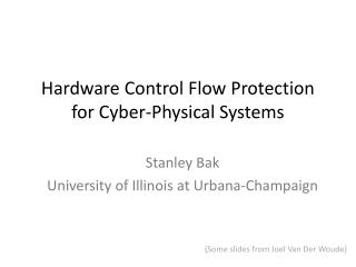 Hardware Control Flow Protection for Cyber-Physical Systems