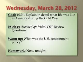 Wednesday, March 28, 2012