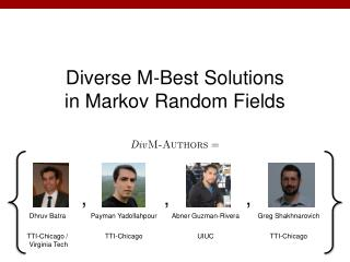 Diverse M-Best Solutions in Markov Random Fields