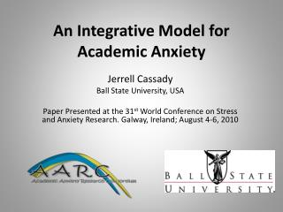 An Integrative  Model for Academic Anxiety