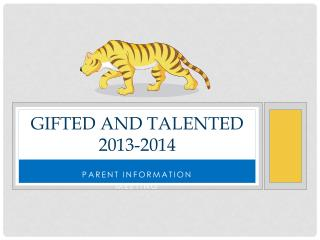 Gifted and Talented 2013-2014