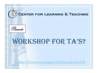 Workshop for TA's?