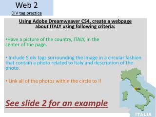 Web 2 DIV tag practice
