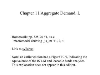 Chapter 11 Aggregate Demand, I.