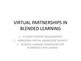 VIRTUAL PARTNERSHIPS IN BLENDED LEARNING