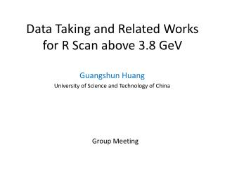 Data Taking and  R elated Works for  R  Scan  above 3.8 GeV