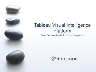 Tableau Visual Intelligence Platform