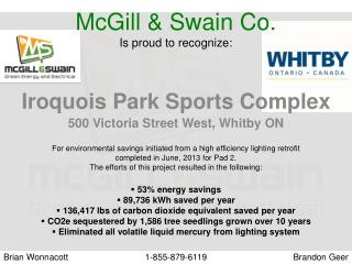 McGill & Swain Co. Is proud to recognize: