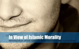 In View of Islamic Morality