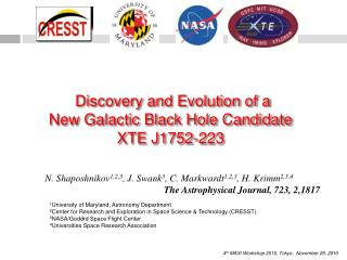 Discovery and Evolution of a New Galactic Black Hole Candidate XTE J1752-223