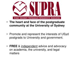 The heart and face of the postgraduate community at the University of Sydney