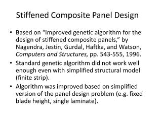 Stiffened Composite Panel Design