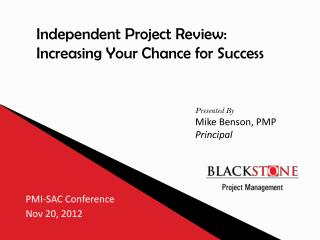 PMI-SAC Conference  Nov  20, 2012