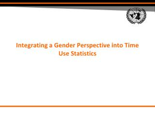 Integrating a Gender Perspective into Time Use Statistics