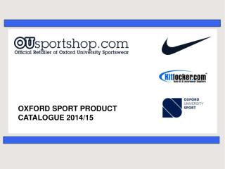 OXFORD SPORT PRODUCT CATALOGUE 2014/15