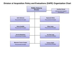 Division of Acquisition Policy and Evaluations (DAPE) Organization Chart