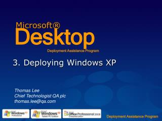 3. Deploying Windows XP