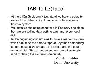 TAB-To-L3(Tape)