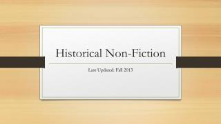 Historical Non-Fiction