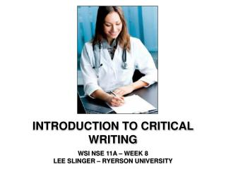 Introduction to critical writing