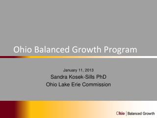 Ohio Balanced Growth Program
