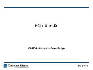 HCI + UI = UX