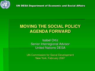 UN DESA Department of Economic and Social Affairs