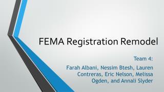 FEMA Registration Remodel