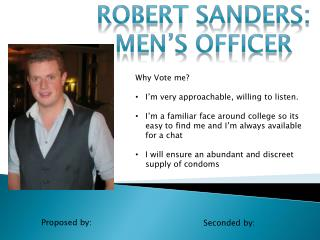 Robert Sanders: Men's Officer