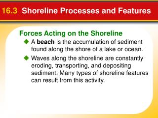 16.3 Shoreline Processes and Features