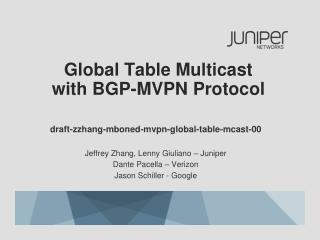 Global Table Multicast with BGP-MVPN Protocol