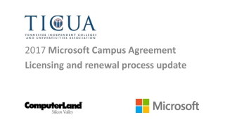 2017 Microsoft Campus Agreement Licensing and renewal process update