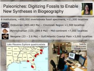 Paleoniches : Digitizing Fossils to Enable    New Syntheses  in Biogeography