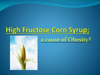 High Fructose Corn Syrup;