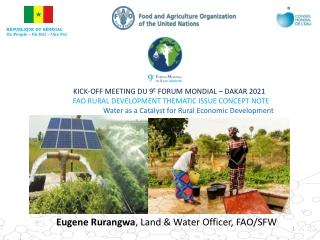 Eugene Rurangwa , Land & Water Officer, FAO/SFW