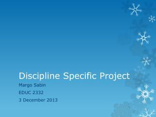 Discipline Specific Project