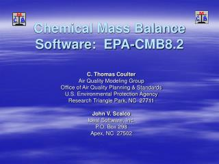 Chemical Mass Balance Software:  EPA-CMB8.2