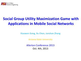 Social Group Utility Maximization Game with Applications in Mobile Social  Networks