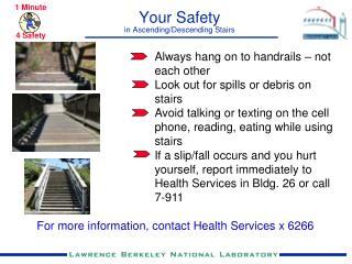 Your Safety in Ascending/Descending Stairs