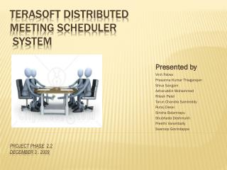 TERASOFT DISTRIBUTED MEETING SCHEDULER  SYSTEM  Project Phase  2.2 DeCEMBER  3 , 2009