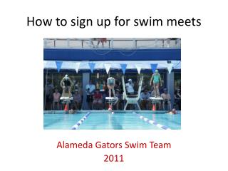 How to sign up for swim meets