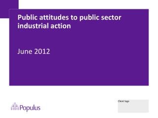 Public attitudes to public sector industrial action