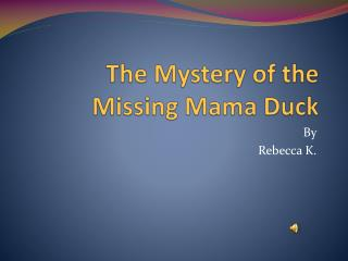 The Mystery of the Missing Mama Duck